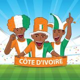 Ivory coast football support Stock Images