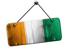 Ivory coast flag, 3D rendering, vintage grunge hanging sign Stock Photo