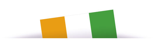 Ivory Coast flag partially hidden with shadow Stock Images