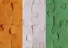 Ivory Coast flag puzzle Royalty Free Stock Images