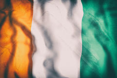 Ivory Coast flag waving Royalty Free Stock Photo