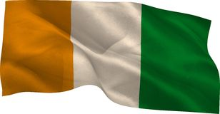 Ivory coast flag waving Stock Photo