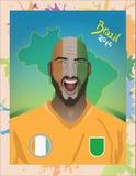 Ivory coast football fan Royalty Free Stock Photography