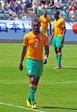 Ivory coast and Japan football match Stock Photography