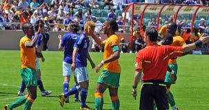 Ivory coast and Japan football match Royalty Free Stock Image