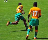 Ivory coast and Japan football match Stock Photo