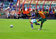 Ivory coast and Japan football match Royalty Free Stock Images
