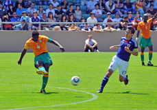 Ivory coast and Japan football match Stock Images