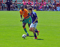 Ivory coast and Japan football match Royalty Free Stock Photos