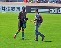 Ivory coast and Japan football match Royalty Free Stock Image