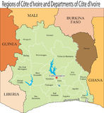 Ivory Coast map. Royalty Free Stock Photos