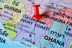 Ivory coast map Royalty Free Stock Photo
