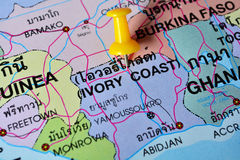 Ivory coast map Royalty Free Stock Images