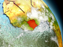 Ivory Coast from space Royalty Free Stock Photo