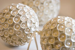 Ivory-colored Christmas tree decorations. Ivory colored Christmas tree decorations with pearls royalty free stock images
