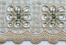 Ivory flowers lace material texture macro shot Royalty Free Stock Photography