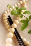 Ivory necklace Royalty Free Stock Image