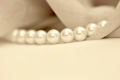 Ivory pearls Stock Image
