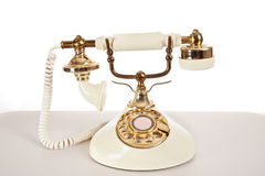Ivory Retro Telephone Stock Photo