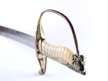 Ivory and sword Stock Images