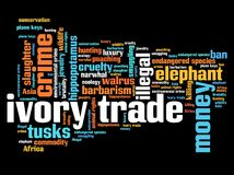 Ivory trade Stock Photography