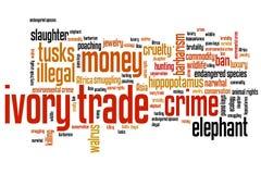 Ivory trade Stock Photo