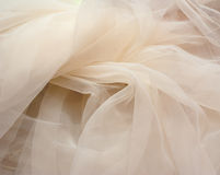 Ivory tulle stock photography