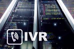 IVR głosu odpowiedzi komunikaci Interaktywny pojęcie zdjęcie stock