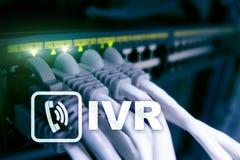 IVR głosu odpowiedzi komunikaci Interaktywny pojęcie obrazy stock
