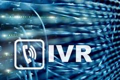 IVR głosu odpowiedzi komunikaci Interaktywny pojęcie serweru centrum danych obraz royalty free