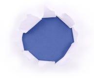 Ivraie de papier au bleu image stock