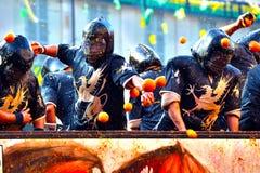 Ivrea d Carnevale Стоковое Изображение RF