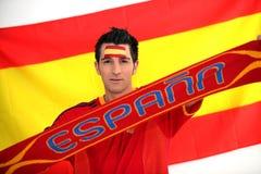 Ivrig Spanien fan Fotografering för Bildbyråer