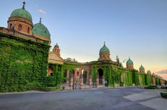 Ivy-covered Exterior Walls of Mirogoj Cemetery Royalty Free Stock Photo