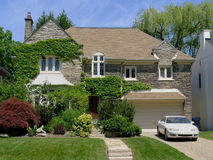 Ivy covered suburban home Stock Photo