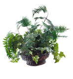 Ivy and Fern Silk Flower Arrangement Royalty Free Stock Photo