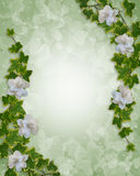 Ivy and Gardenias Floral Border  Royalty Free Stock Photo