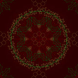 Ivy and Holly lace seamless tile Royalty Free Stock Image
