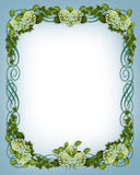 Ivy Hydrangea floral border Wedding invitation. Ivy, hydrangea flowers image and illustration composition for background, floral border, frame, wedding Stock Images