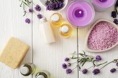 ivy lavender soap spa πετσέτα Στοκ φωτογραφία με δικαίωμα ελεύθερης χρήσης