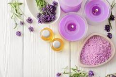 ivy lavender soap spa πετσέτα Στοκ Εικόνα