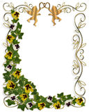 Ivy and Pansies Floral Border Stock Photos
