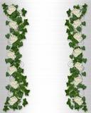 Ivy and Peony floral border invitation Royalty Free Stock Photo