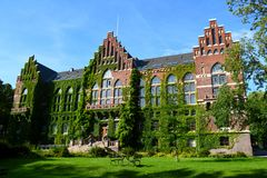 Main library in lund university royalty free stock photo