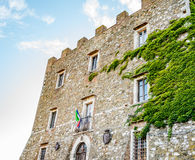 Ivy on the walls of the Castle of Manciano Royalty Free Stock Photography