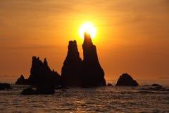 Iwa skały przy świtem fotografia royalty free