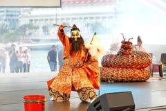 Iwami Kagura: Slaying of the Eight-Headed Serpent Performance at Esplanade Outdoor theater Singapore. Free performance at Esplanade Outdoor theatre Singapore royalty free stock photo