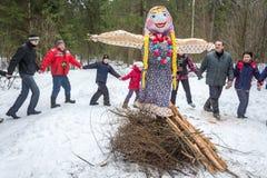 Iwanowo, Russland, am 22. Februar 2015 Am Feiertag von Maslenitsa Lizenzfreie Stockbilder