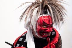 Iwasaki Onikenbai dansare Fotografering för Bildbyråer