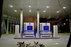 Iwatani-Wasserstoff, der Station tankt lizenzfreie stockfotos